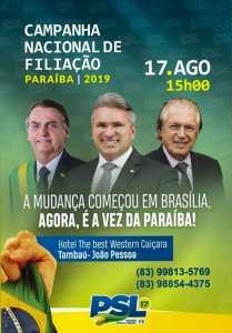 Julian Lemos anuncia filiações que irão fortalecer PSL na Paraíba