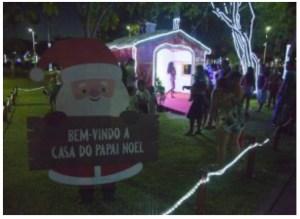 Casa do Papai Noel pode ser visitada a partir das 17h deste domingo no Parque da Lagoa