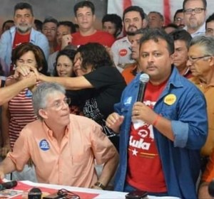 """""""Não será agora que estaremos distantes e separados"""", diz presidente estadual do PT ao prestar solidariedade a Ricardo"""