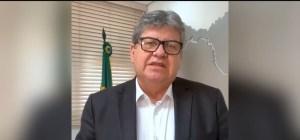 João Azevêdo anuncia amanhã em Live uma série de medidas econômicas e sociais diante pandemia do coronavírus