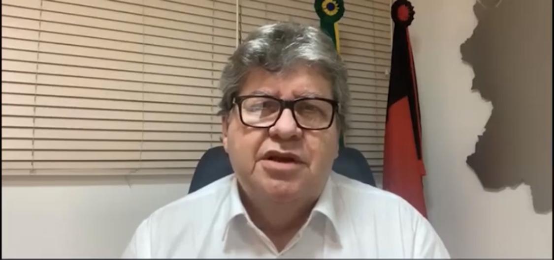 VÍDEO: João Azevêdo nega lockdown, mas diz que haverá restrição na circulação de veículos e pessoas nas ruas da Grande João Pessoa