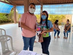 Inovação e tecnologia: Prefeitura de Alhandra realiza entrega de tablets para agentes de saúde e endemias do município 