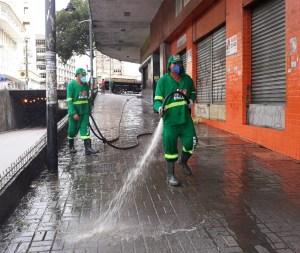 Higienização – Centro da Capital recebe Operação Proteção com realização de serviços de limpeza para reabertura do comércio