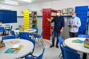 Cartaxo entrega obras de ampliação e climatização em escola de Tempo Integral no Cristo e chega a 38 unidades no novo padrão de qualidade