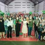 FORÇA FEMININA – Ao lado de Lígia e Mariana, Edilma Freire defende políticas públicas para as mulheres