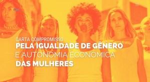 Candidatos são convidados a assinar 'carta-compromisso' voltada para a equidade de gênero