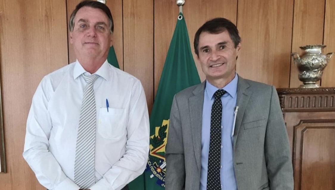 Em Brasília, Bolsonaro recebe Romero Rodrigues