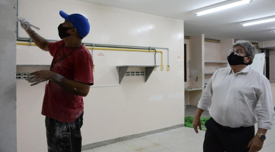 Após obras de adaptação, hospital Frei Damião passa a atender pacientes com Covid-19 a partir de quarta-feira