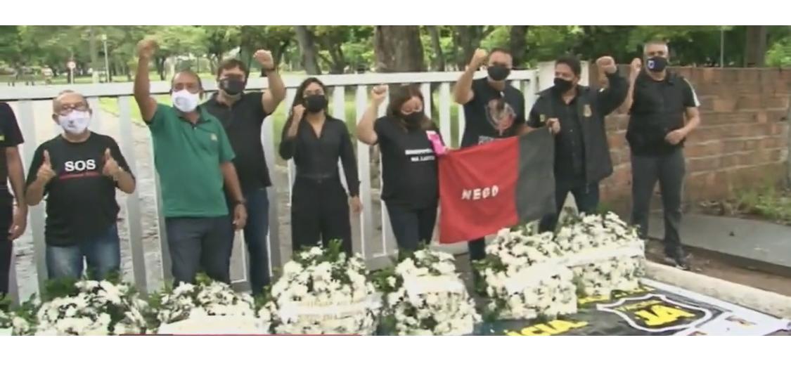 Forças de Segurança da PB homenageiam policiais mortos pela Covid-19 e cobram 5% das vacinas para categoria