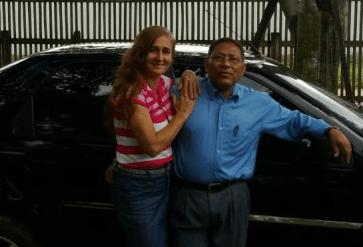 O secretário de assistência social, Valber Azevedo e a esposa Ana Amélia Azevedo.