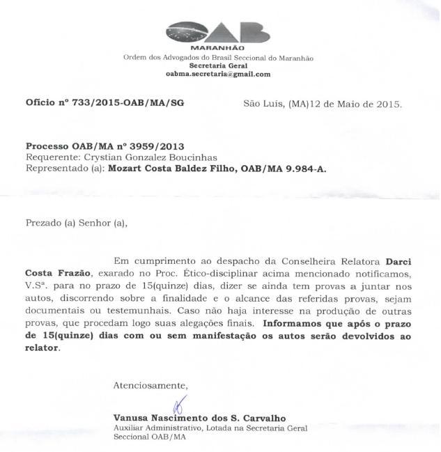 Documento mostra reabertura de processo contra filiado que paga integralmente sua anuidade
