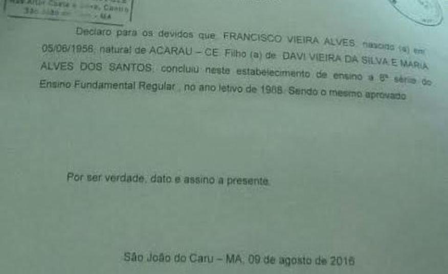 Documento também mostra que Euda, madrasta de Arturo Júnior, também fez parte de sociedade empresarial com o enteado.