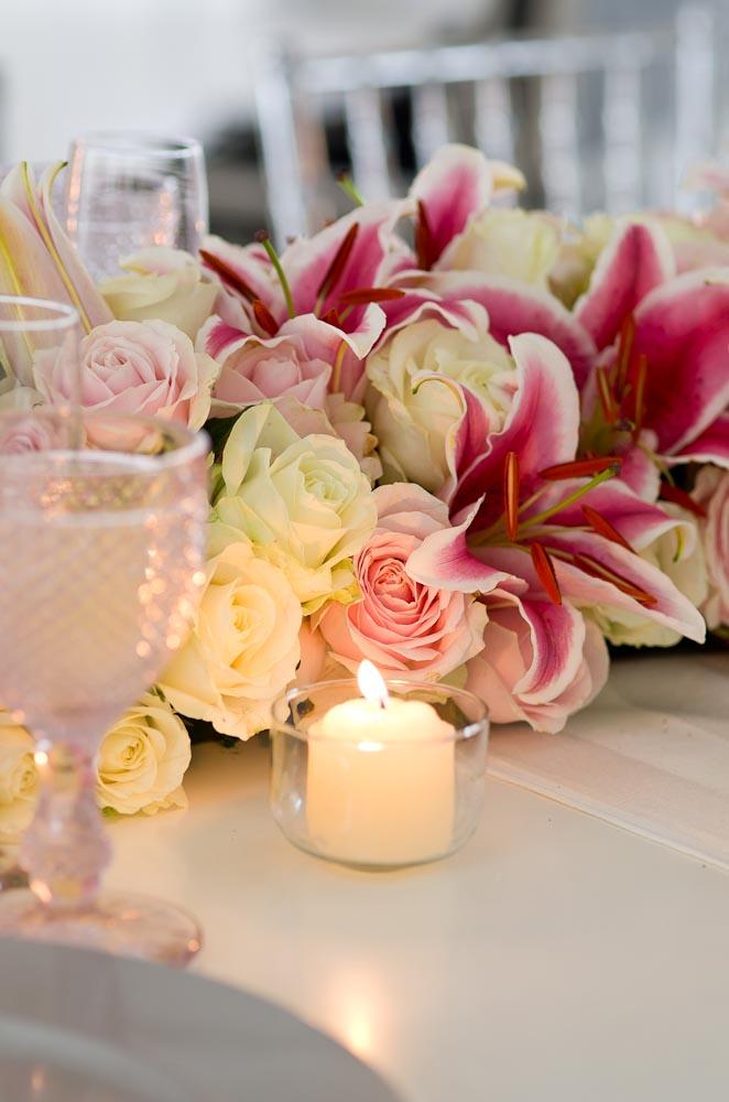 Decorao de casamento rosa claro