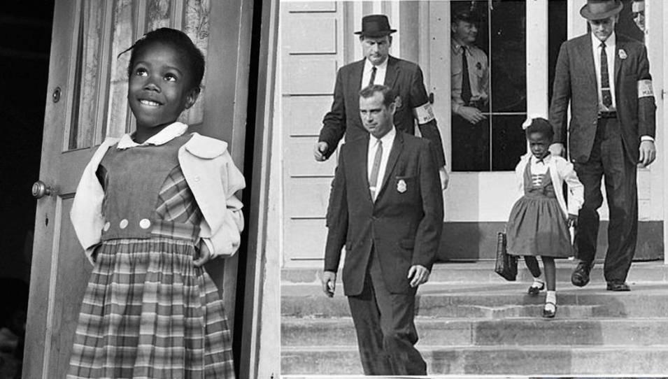 ruby-bridges Ruby Bridges, Aos Seis Anos: Discriminada, Maltratada e Agredida