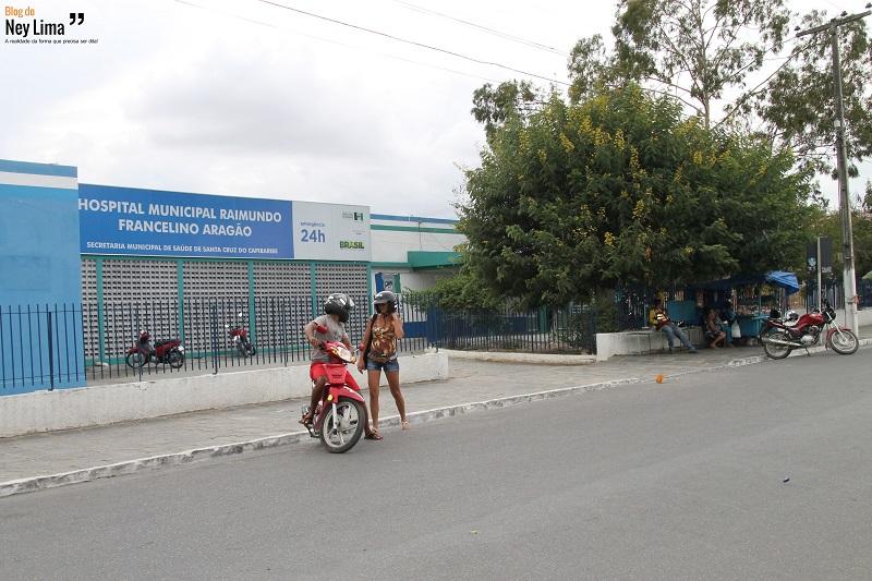 Hospital Raimundo Francelino Aragão segue quase sem movimentação. Fotos: Thonny Hill.