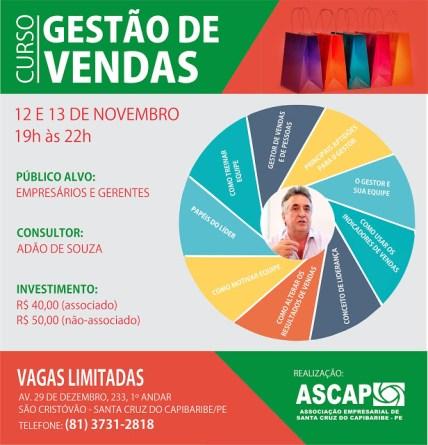 ASCAP 11 2015 Curso Gestão de Vendas