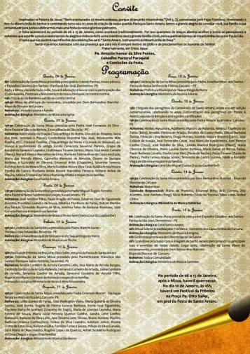 Convite da Festa de Santo Amaro 1