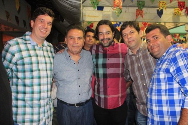 SÃO JOÃO DA MACAMBIRA - Joãozinho Tenório( prefeito de São Joaquim do Monte), João Lyra, Diogo Moraes e Flávio Lima (ex-prefeito de Toritama)