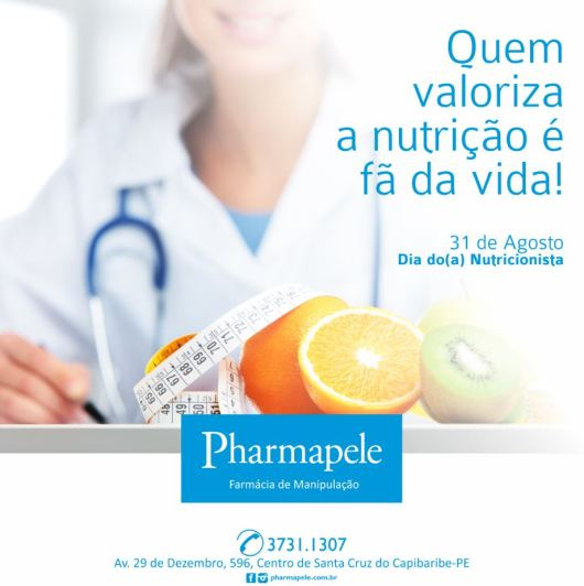 Pharmapele dia do nutricionista