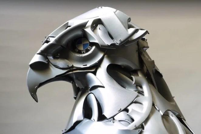 hubcap-animal-sculptures