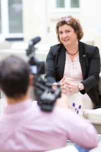 gamescom 2016, Pressekonferenz in Berlin, Katharina C. Hamma, Geschäftsführerin der Koelnmesse GmbH
