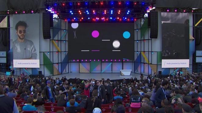 Part of Parisi's performance at Google I/O 2017