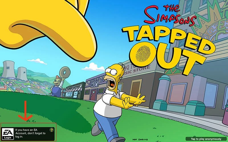 The Simpsons Tapped Game