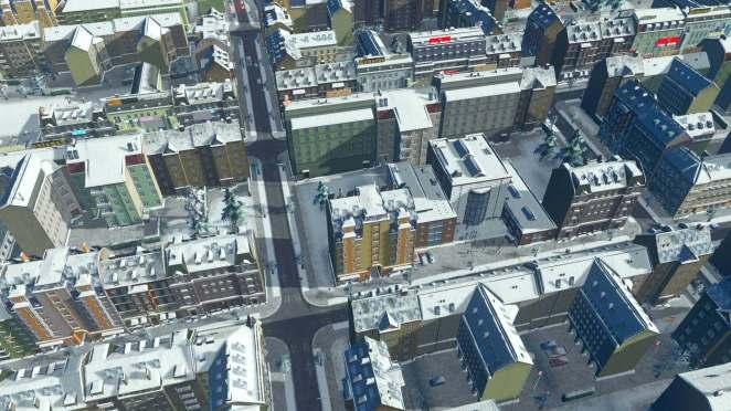 Cities Skylines Snowfall Screenshot
