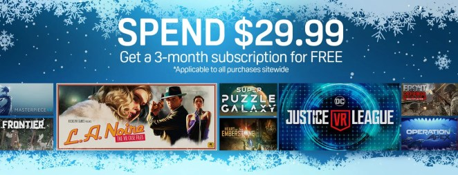 Spend $29.99 and get a 3-month subscription!