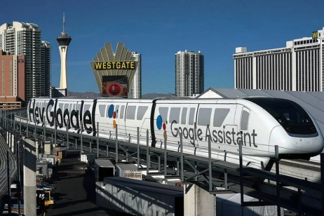 Google Assistant on Laas Vegas Monorail