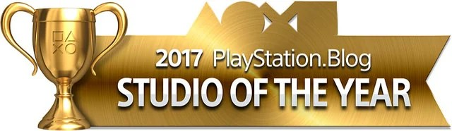 PlayStation Blog Game of the Year 2017 - Studio of the Year (Gold)