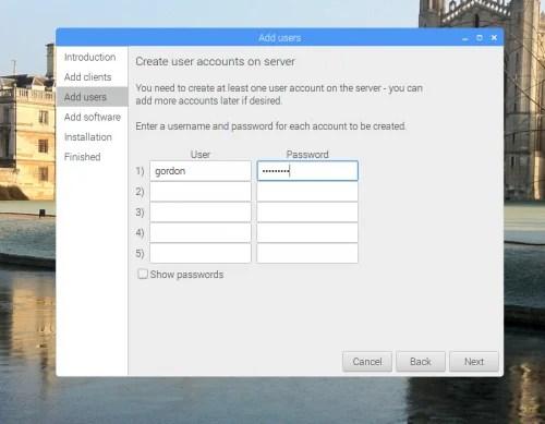 PiServer GUI screenshot