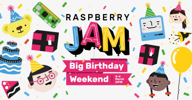 Raspberry Pi Big Birthday Weekend Jam