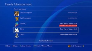 PS4 System Software Update 5.50: Play Time Managment