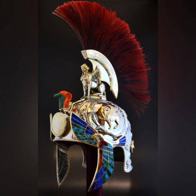 Custom Prototype's award-winning Roman helmet 3D print