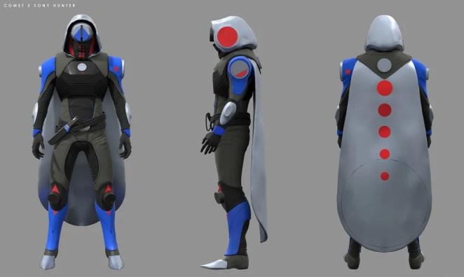 Destiny 2: Forsaken Concept Art – PlayStation-Exclusive Hunter Armor