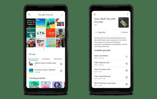 Google Podcasts screenshots