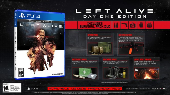 Left Alive: Day One Edition