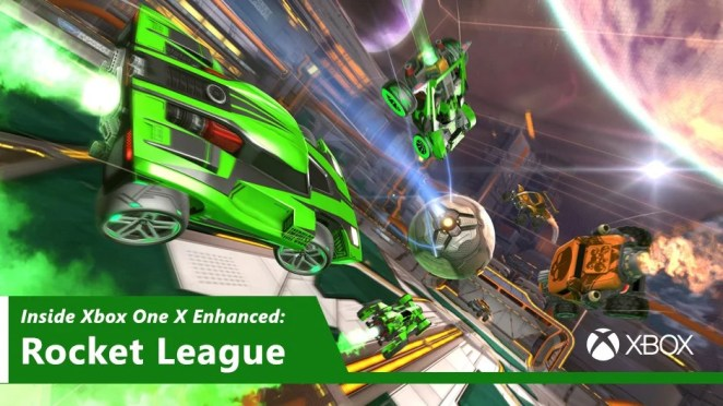 Inside Xbox One X Enhanced - Rocket League Hero Image