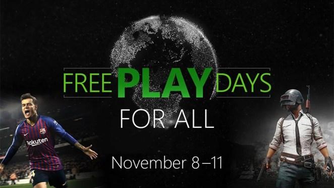 Free Play Days PUBG PES Hero