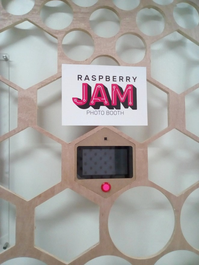 A Raspberry Pi-based photobooth created for last years Raspberry Jam Big Birthday Weekend