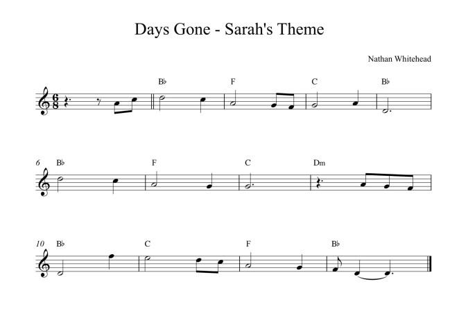 Days Gone - Sarah's Theme