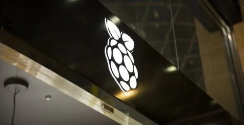 The Raspberry Pi Store sign