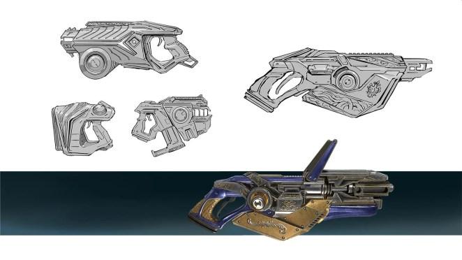 Telefrag VR - Laser Pistol concept