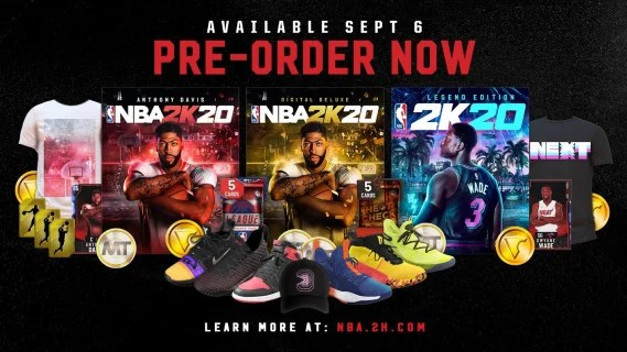 NBA 2K20 Pre-order Art