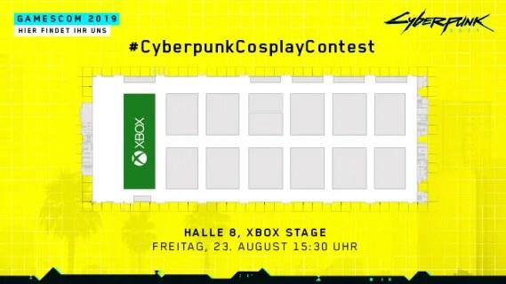 Cyberpunk 2077 Cosplay Contest: Seid live auf der gamescom 2019 dabei: Hallenplan