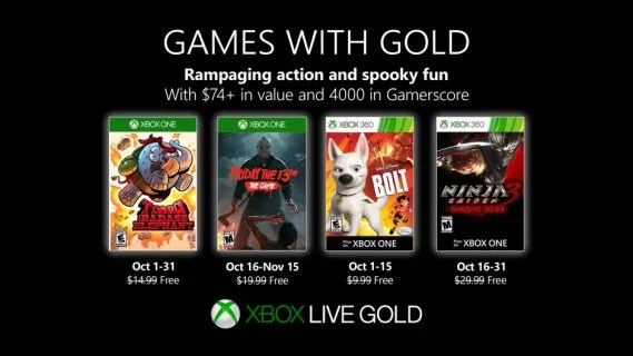 Games with Gold - October 2019 - Hero