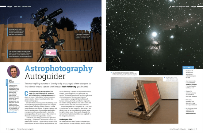 Astrophotography autoguider