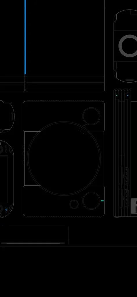 #25YearsOfPlay Wallpaper: Mobile - Black