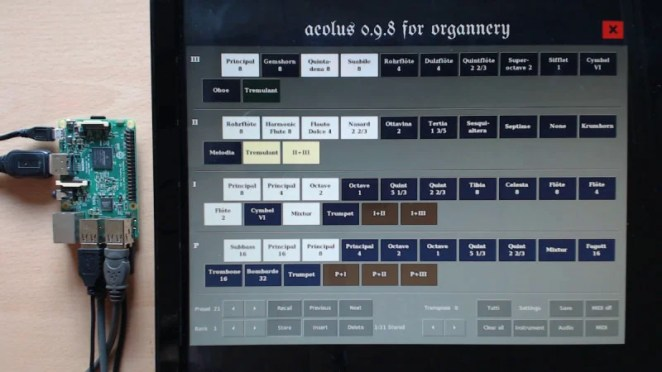 The Aeolus software allows a collection of stops to be saved to a USB memory stick for each organist